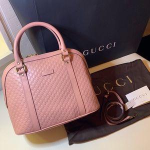 NEW Gucci Bag Micro GG Soft Pink 449664